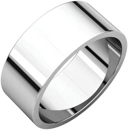 Platinum 8mm Flat Band, Ring Size 7