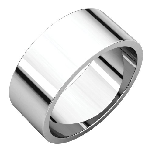 - Bonyak Jewelry Palladium 8 mm Flat Wedding Band in Palladium - Size 6