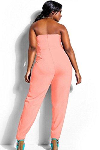 Neuf femmes Taille plus Peach sans bretelles Combinaison body Club Wear Vêtements Taille XXL UK 14–16EU 42–44