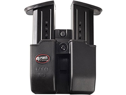 6909NDRB Fobus, Double Mag Pouch, 9mm, 357,&40 Caliber, Roto Belt, Black