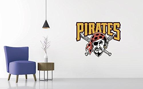 (Baseball Team Logo - Wall Decal Removable & Reusable For Home Bedroom (Wide 20