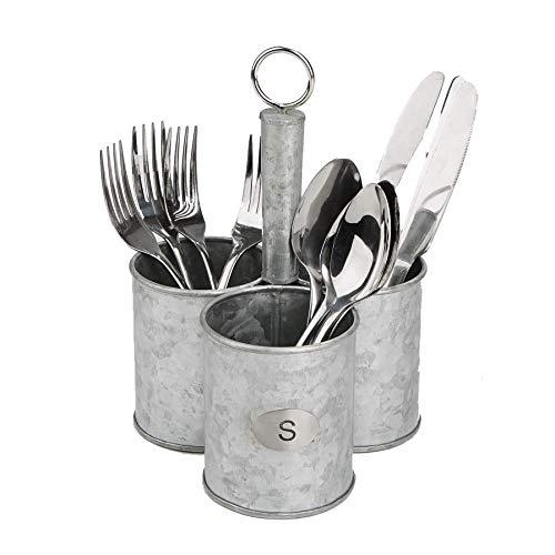 Mind Reader , Cutlery, Silverware Organizer, Utensil Caddy, Multi-Purpose Holder, One Size, Silver Metal