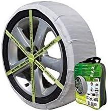 Chaussette neige textile pneu 235//35R19 excellente protection de la jante Valise comprenant 2 chaines textile et 1 paire de gants