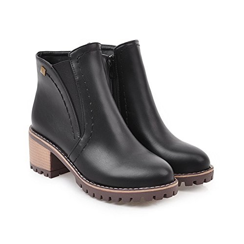Black ABL10161 Slip Platform BalaMasa Urethane Boots Dress Resistant Womens B8WqwR4
