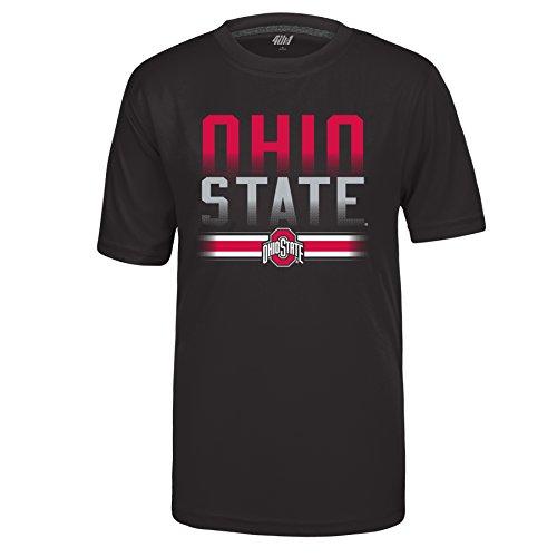 State Ohio Buckeyes Shirts (J America NCAA Ohio State Buckeyes Kids & Baby Football Stripe Vital Poly Tee, Black, Small)