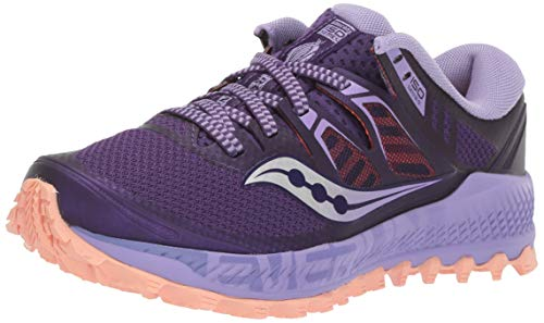 Saucony Women's Peregrine ISO Road Running Shoe, Purple/Peach, 11 M US (Wolverine Trail Runner)