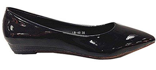 verniciare mocassines nero Scarpe ballerine 40 Donne LB ecopelle colore wI7aEq
