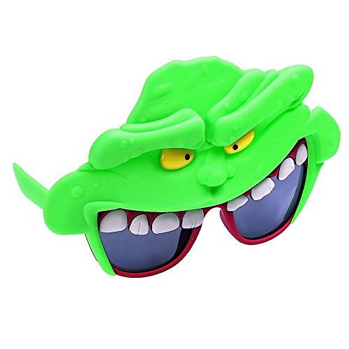Sunstaches Ghostbuster's Slimer Sunglasses, Party Favors, UV400 by Sun-Staches