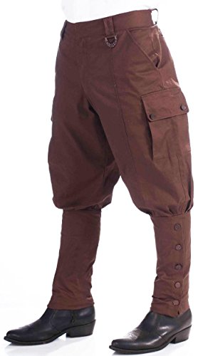 [Forum Novelties Steampunk Jodhpur-Style Pants, Brown, One Size] (Adult Brown Steampunk Costumes Pants)