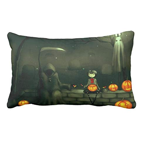 AoLian CYW Scary Halloween Collection Clip Art Pillow Case 19.68 X 35.4 -