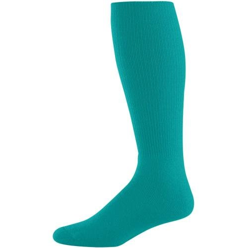 Augusta Drop Ship Youth Athletic Socks - TEAL - 7-9