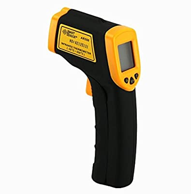 Infrared Thermometers, LINNEGO Infrared Thermometer Temperature Non-Contact Gun-58°F to 716°F(-50°C to 380°C) LCD Display With Backlight(Battery Not Included).