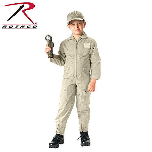 - Rothco Kids Air Force Type Flight Suit, Khaki, Medium