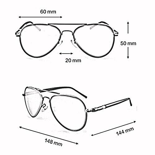 De Gafas ZX Gafas Ligero Personalidad Libre Anti La UV Sra Plata Sol Aire Al Color Proteccion Viaje Plata Retro Hombre La IZ7BnZX