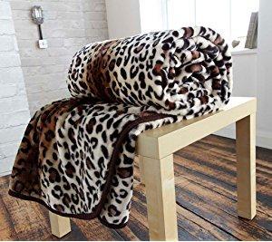 Fausse fourrure Couverture Jeté de lit Sofa doux et chaud en
