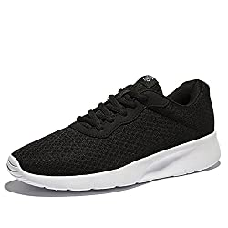 NDB Men's Women's Unisex Couple Casual Fashion Comfort Sneakers Outdoor Sport Gym Breathable Jogger Running Shoes (5.5 B(M) US, Black)