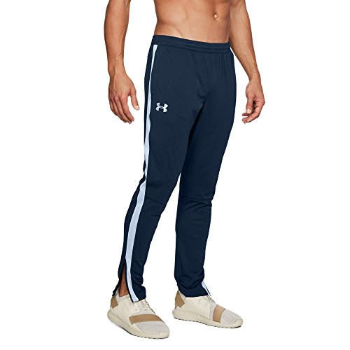 Tapered Track Pant - Under Armour Men's Sportstyle Pique Pants , Academy (408)/White, Large