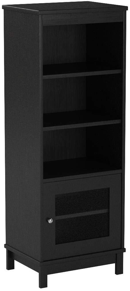 Audio Video Pier Free Standing Media Cabinet (Black Oak) by Mainstay