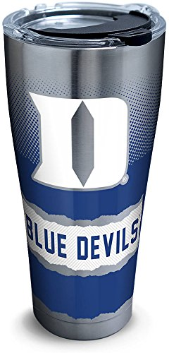 Tervis 1277171 Duke Blue Devils Knockout Stainless Steel Tumbler with Clear and Black Hammer Lid 30oz, Silver Duke Blue Devils Ice