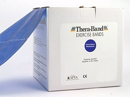 Thera-band Exercise Band, 50 Yard - Extra Heavy Blue by Pilates Equipment Straps