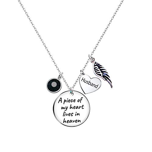 Paris Selection Husband Memorial Necklace Sympathy Gift in Memory of Husband