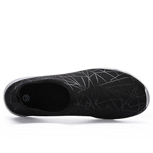 GLSHI de Zapatos Zapatos rápido de Black para secado aguamarina Zapatillas de mujer Nadar Caminar Deportes de agua unisex natación Td4qwCd1