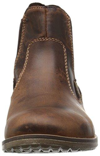 Steve Madden Mens Nockdwn Chelsea Boot Tan Läder
