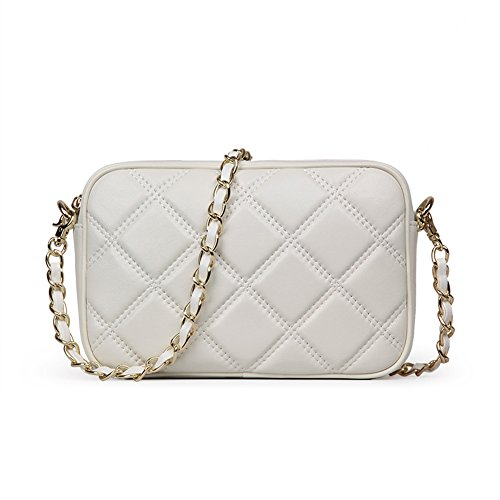 quilted crossbody purse beige - 6