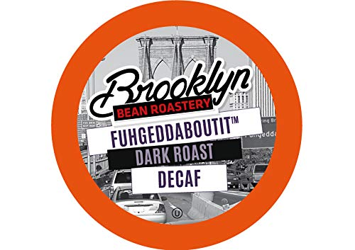 (Brooklyn Beans Fuhgeddaboutit Decaf Coffee Pods, Compatible with 2.0 K-Cup Brewers, 40 Count )