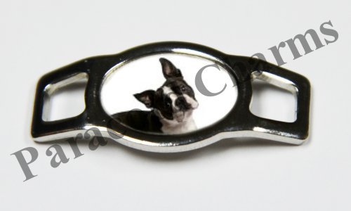 Boston Terrier Dog - Design #101 - Stainless Steel 550 Paracord Shoelace Charm - NEW - Dogs 101 Boston Terrier