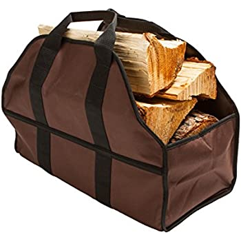 Premium Firewood Carrier & Log Tote by SC Lifestyle (Brown)