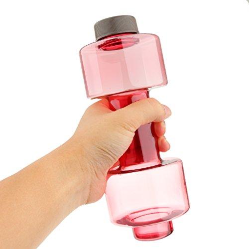 Generic 500ML Bouteille D'eau de Sport Haltère Gourde en Plastique Tasse de Fitness