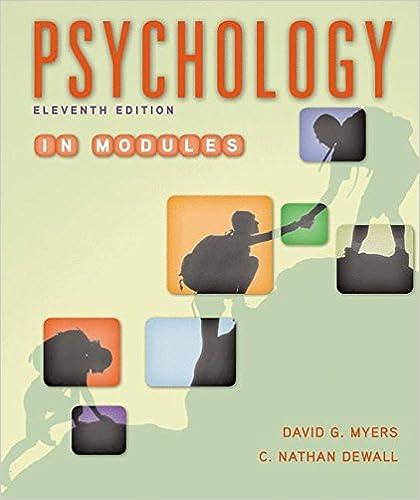 Amazon Com Psychology In Modules 9781464167522 David G Myers C