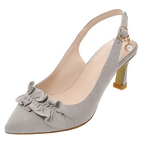 Coolcept Mujer Puntiagudo Bombas Zapatos Gray