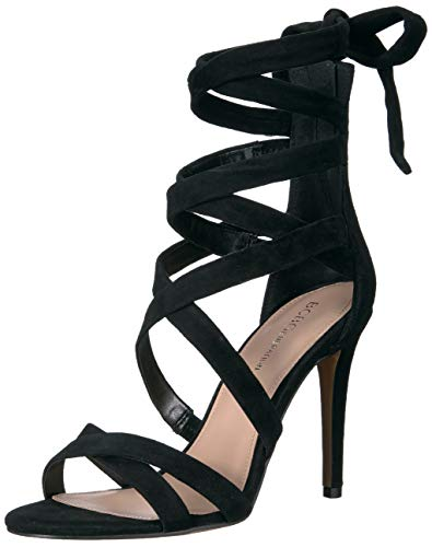 BCBGeneration Women's Janine Lace Up Sandal Heeled, Black, 7 M US
