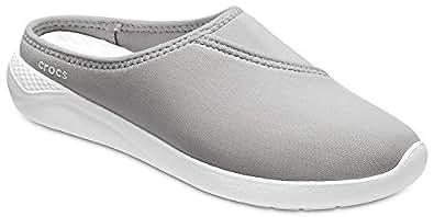 Crocs Women's LiteRide Mule, Light Grey/White, 5 M US