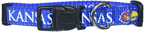 Pet Goods NCAA Kansas Jayhawks Dog Collar, Medium ()