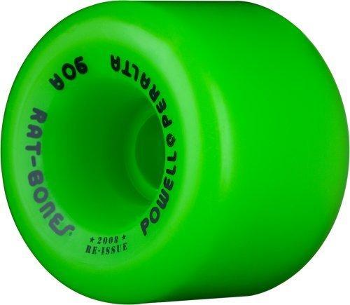 Powell-Peralta Rat Bones Re-Issue Skateboard Wheels - green (90a) 60mm by Powell-Peralta
