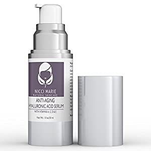 Hyaluronic Acid Serum with Vitamin C, A, D, E ~ Best Anti Aging Cream & Anti Wrinkle Moisturizer ~ Skin Care Products for Men & Women ~ Proudly Made in the USA