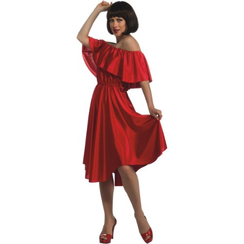 [Rubie's Costume Co Women's Saturday Night Fever Dress, Red, Standard] (70s Disco Fever)
