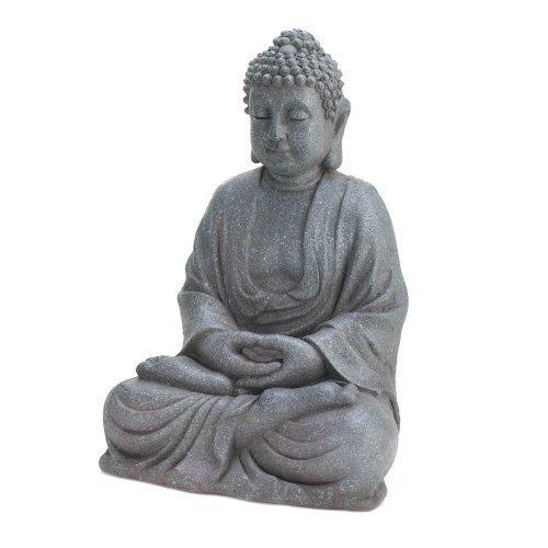 Accent Plus 12-inch Fiberglass Buddha Statue