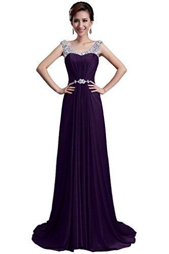 with Beaded Straps Embellished Sparkling Dresses Grape Prom 2015 Bride Waist Angel TUAZqwPac