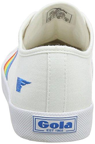 Gola Women's Coaster Rainbow White/Multi Trainers White (White/Multi Wz) be3AvB
