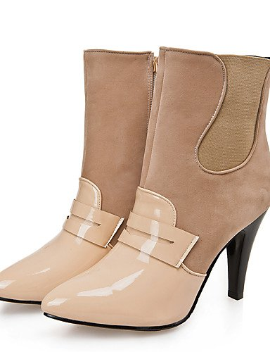 us8 Casual Mujer Black Beige Zapatos Eu36 5 De 5 Semicuero Cn39 Stiletto Botas Naranja Tacón Negro Xzz us5 Uk3 Eu39 Cn35 Puntiagudos Orange Uk6 Rojo q06EwU