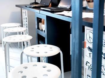 Ikea weiß hocker stapelbar: amazon.de: küche & haushalt