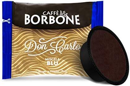 Caffè Borbone Don Carlo Miscela Blu – Confezione da 100 Capsule – Compatibili con macchine a marchio Lavazza®*A Modo Mio®