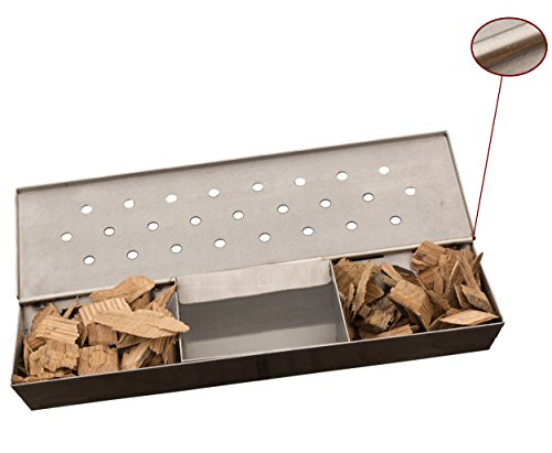 Cave Tools Pellet Tube Wood Smoker Box - High Grade 304 Stainless Steel 8+ Hours Hot or Cold Smoking Generator Kit...
