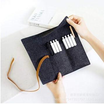 SUNSKYOO Trousse /à Crayons multifonctionnelle avec Trousse de Rangement en feutres Gris