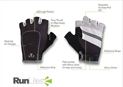 RunLites Mangata - Gloves with Lights - USB Rechargeable LED Lights - Half-Gloves