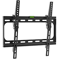 Charmount Fixed TV Wall Mount Bracket for 26-55 Inch LED, LCD, OLED and Plasma TVs up to VESA 400x400 and 66 LBS Loading Capacity, and Fits Flat Panel Screen Display Tilting, Hotels or Outdoors